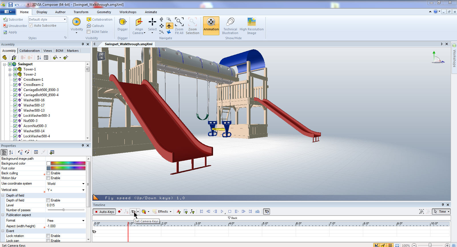 Solidworks tutorial: how to animate a 6 dof (degrees of freedom.