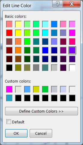 Edit Line Colour