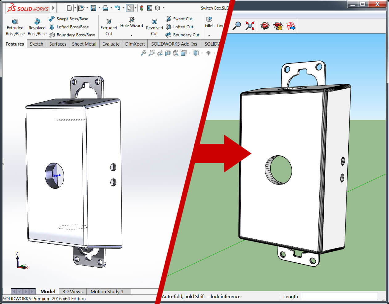 Google Cad How To Export A Model From Solidworks To Google Sketchup