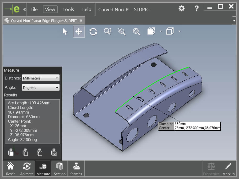eDrawings Measure tool is not available in my document?