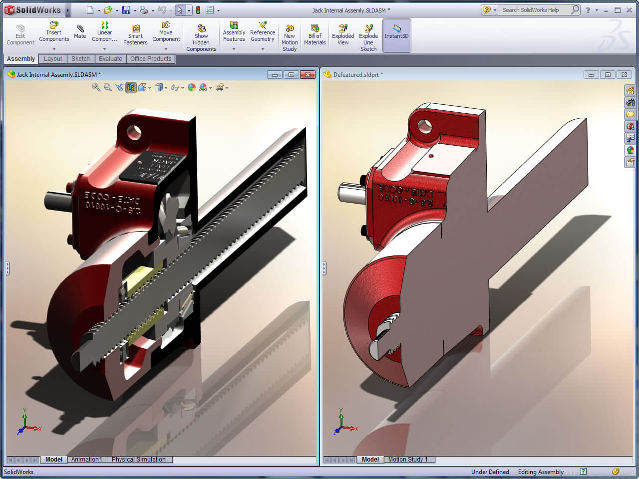 SOLIDWORKS Defeature