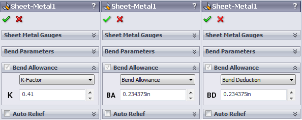 Sheet Metal Bend Allowance Calculations With Solidworks