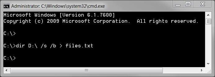Windows Command Window for file path length