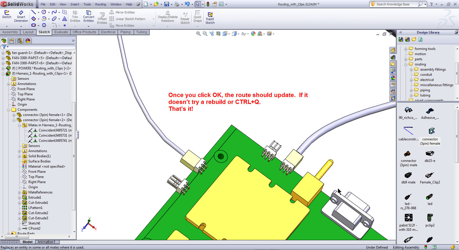 how to change location of origin in assembly solidworks
