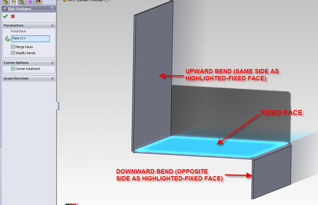 Sheet Metal Bend Direction
