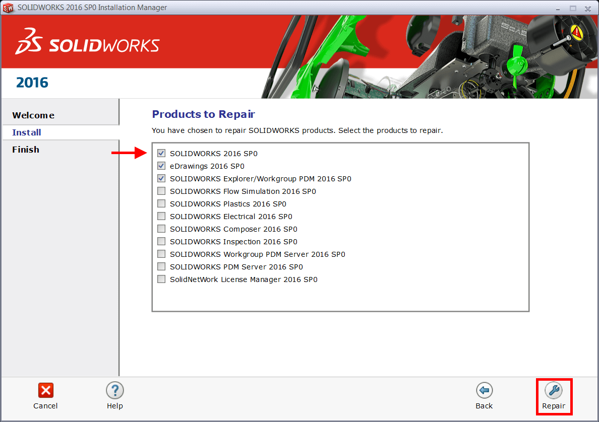 How to remove solidworks installation manager