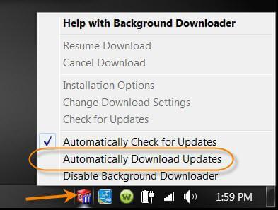 Background Downloader Disabled