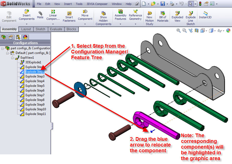 Time Saving Tip: Find the Exploded Steps of Each Component