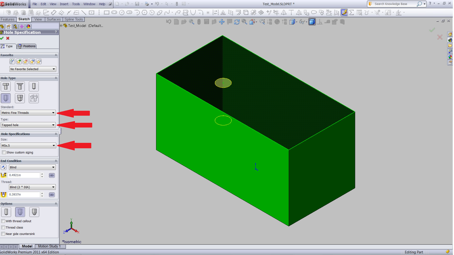 Create a New Standard in the SOLIDWORKS Hole Wizard and Toolbox