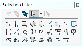 SOLIDWORKS Selection Filter Toolbar
