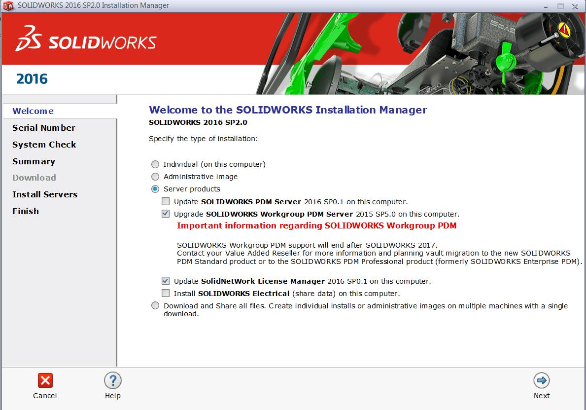 SOLIDWORKS 2016 Workgroup PDM Server