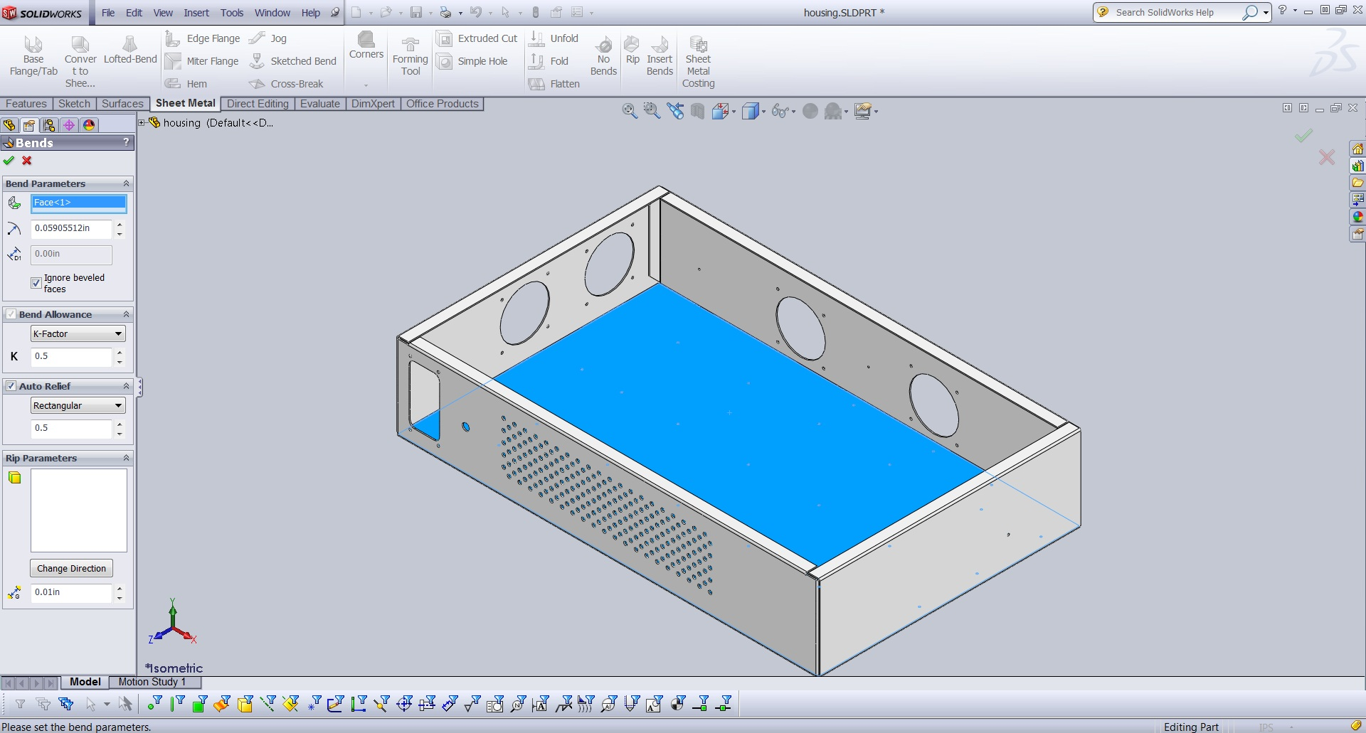 Importing Sheet Metal Geometry Into Solidworks From Step