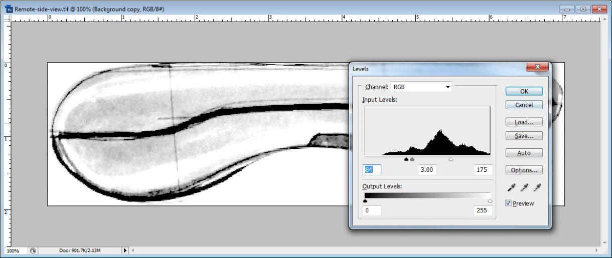 Adjusting the image levels