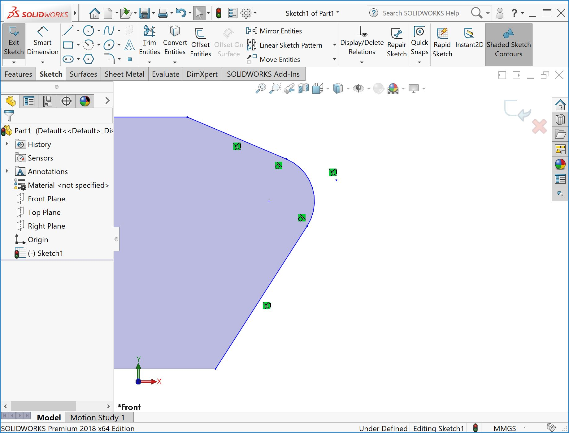 How to Insert SOLIDWORKS Virtual Sharps in a Sketch or Drawing