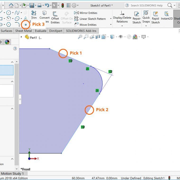 SOLIDWORKS Virtual Sharp Picks