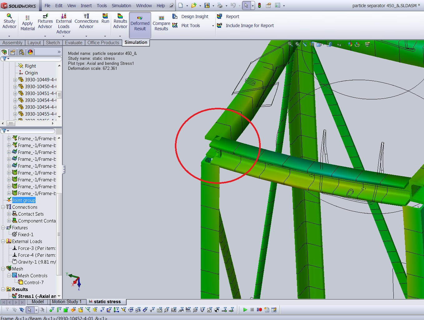 Beam Element Improvement in SOLIDWORKS Simulation