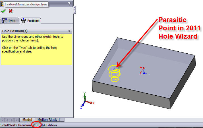 SolidWorks 2011 Parasitic Point