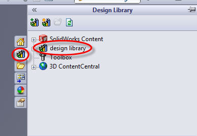 Design Library Folder Visible