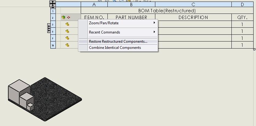 Restore Restructured Components