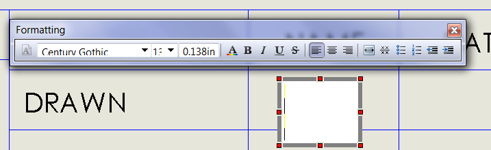 SOLIDWORKS drawing title block