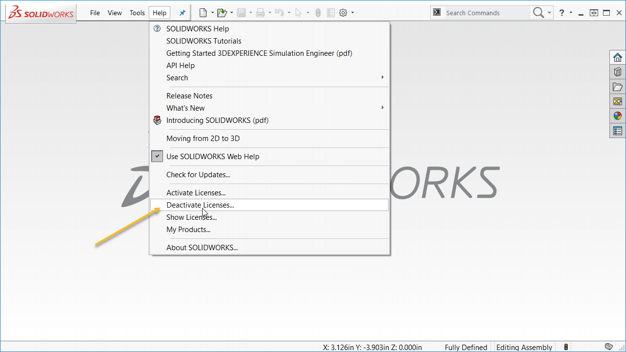 How to transfer SOLIDWORKS License from one machine to another