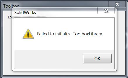 Failed to initialize Error Message