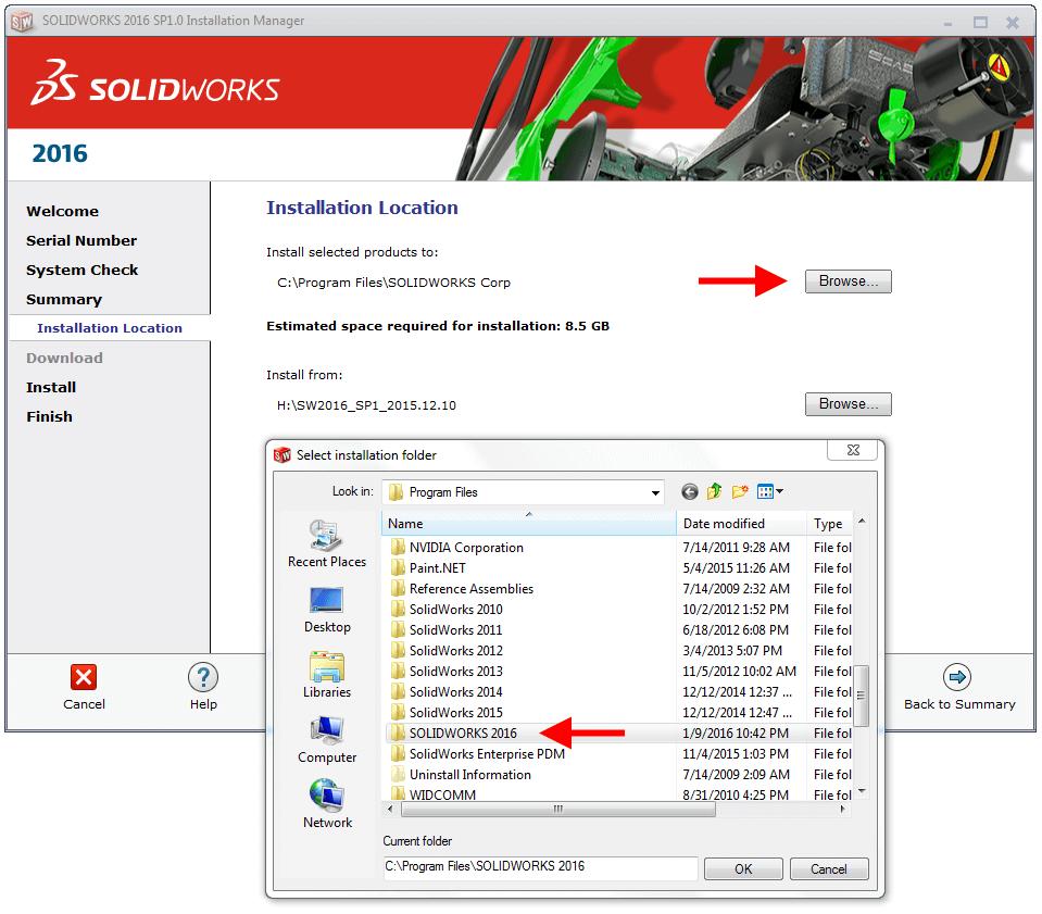 Choose new folder