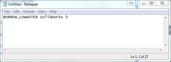 The option BORROW_LOWWATER