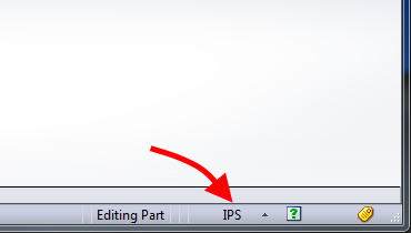 SOLIDWORKS Document Units Quick Select