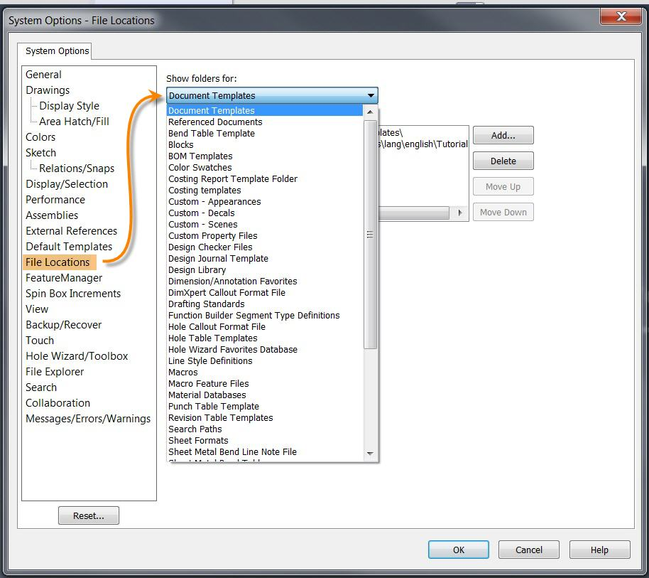 Store your Custom SOLIDWORKS Templates in a Safe Location
