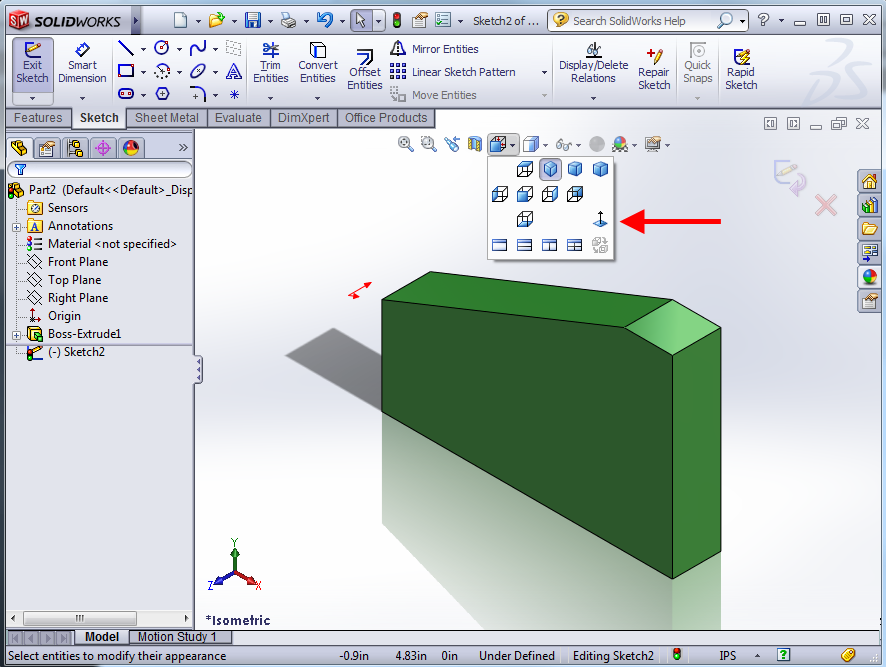SOLIDWORKS Auto-Rotate View On Sketch Creation