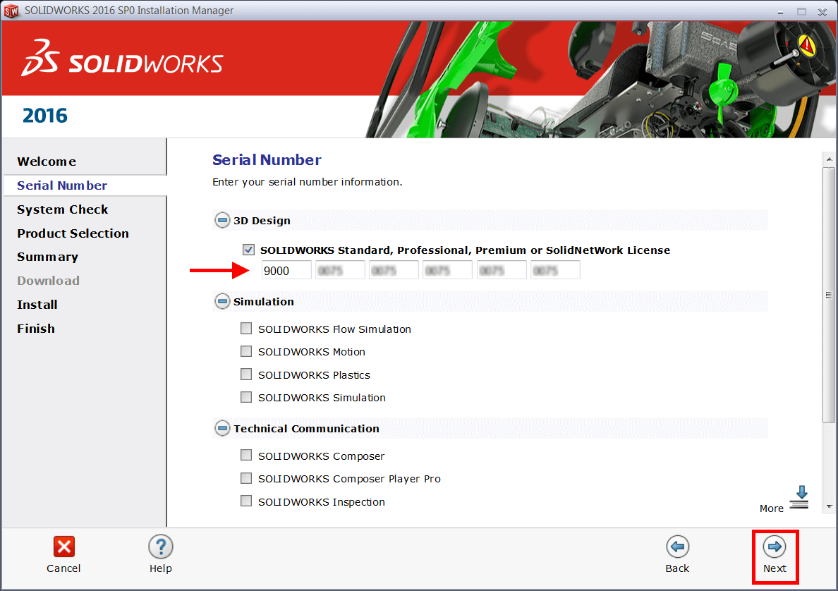 Change SOLIDWORKS Serial Number
