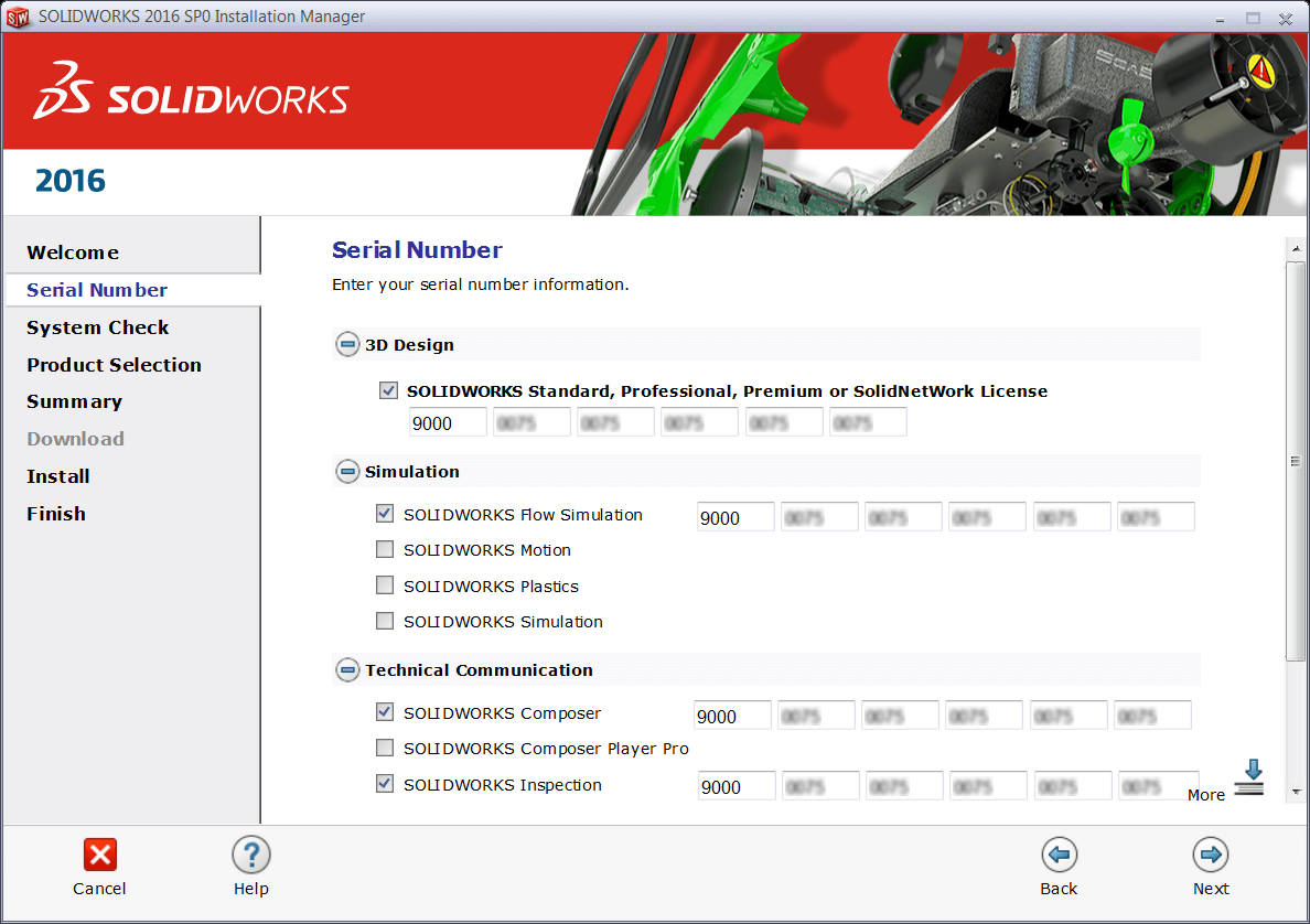 SOLIDWORKS Add-in Serial Number