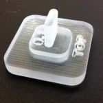 3D printed part with 0.1 mm gap: too tight.