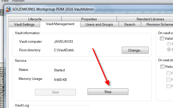 Moving SOLIDWORKS Workgroup PDM Vault to a NEW Server