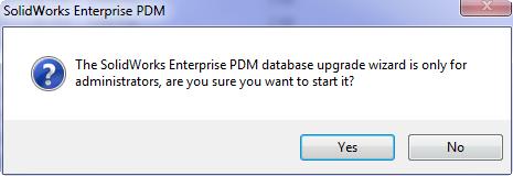 SOLIDWORKS EPDM Database Upgrade Tool