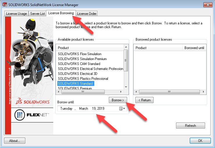 How to borrow SOLIDWORKS Network Licenses (and return them too)