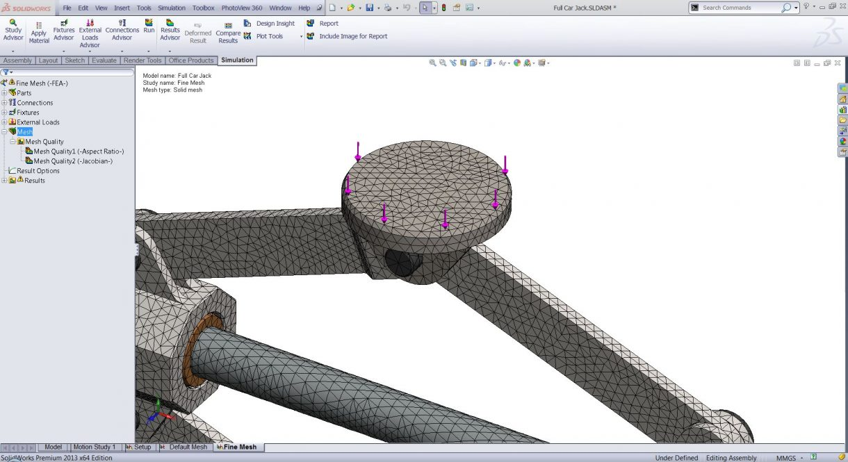 SOLIDWORKS Simulation Mesh