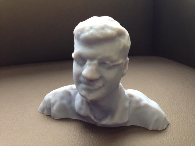Jim Peltier, printed in an Objet 3D printer from 123D Catch data.