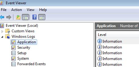application log location