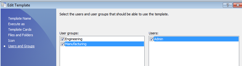 folder template permissions