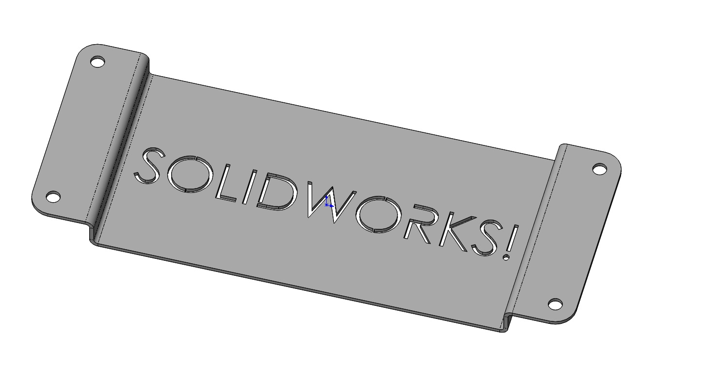 Solidworks Sheet Metal Flat Pattern Drawing View Flip And