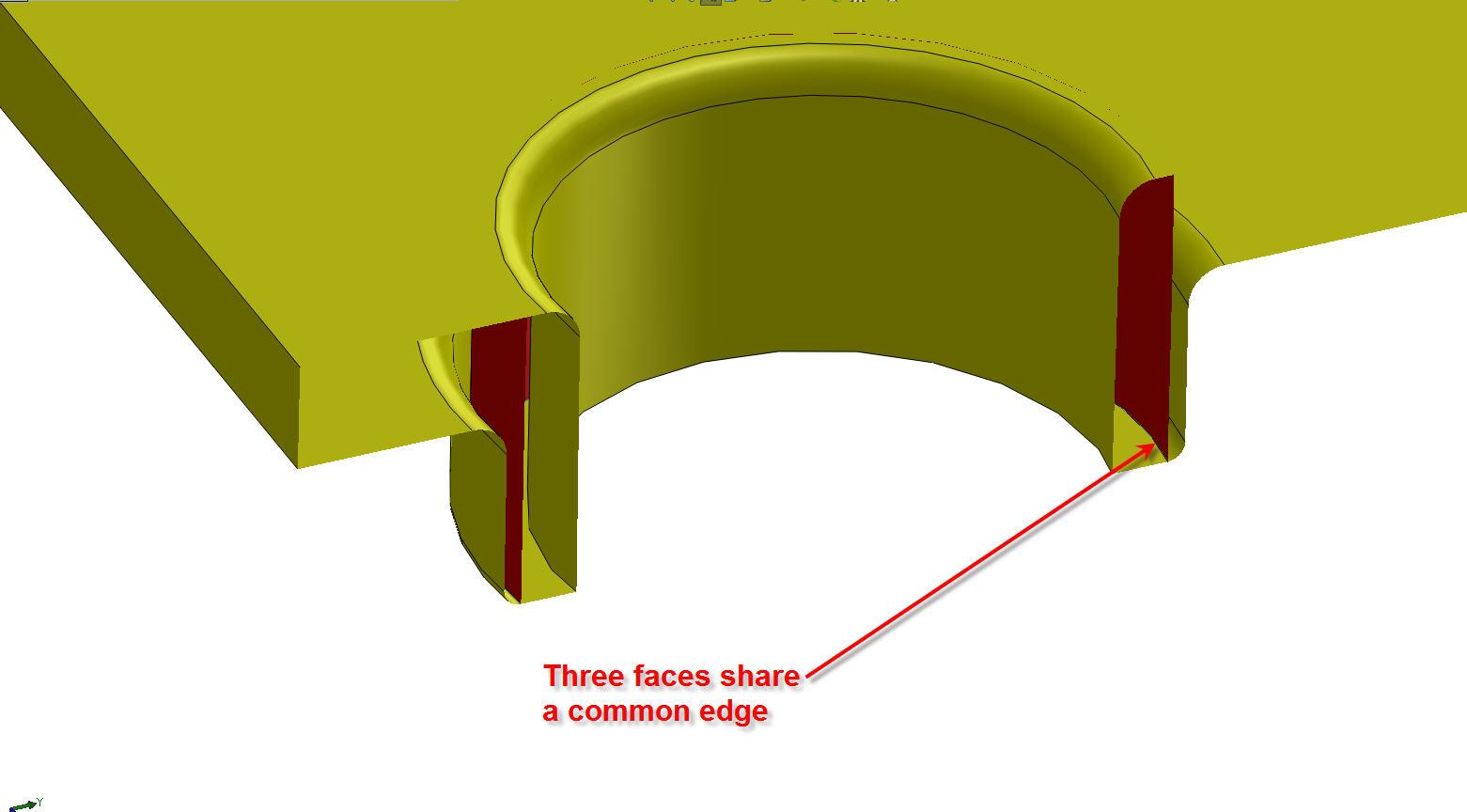 Topological Error - Three Faces Share an Edge