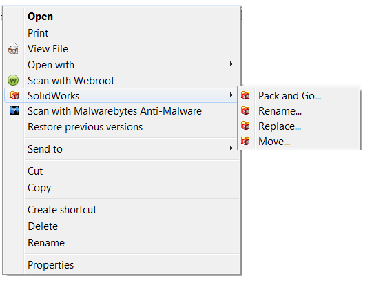 SolidWorks Explorer Options
