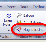 Magnet Line Button