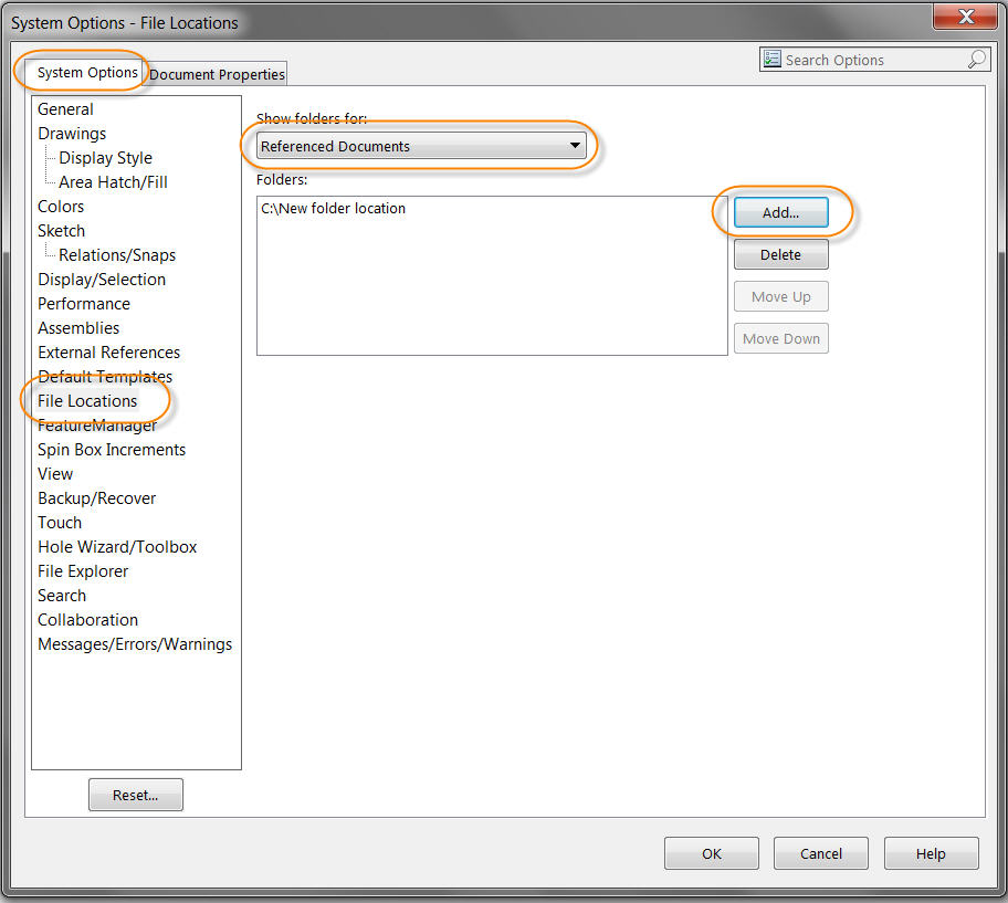 Add Referenced Documents