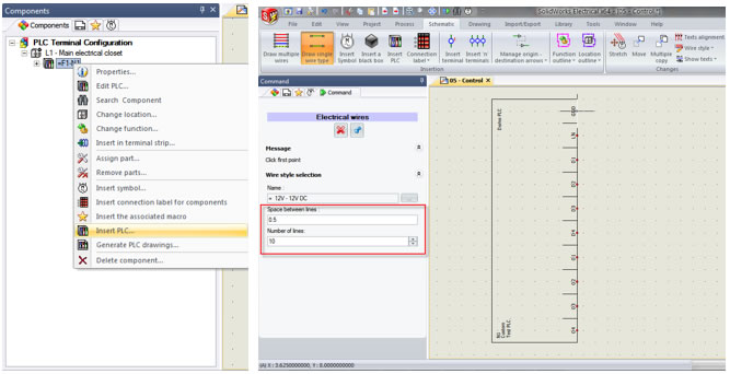 PLC I/O Wire Numbering in SOLIDWORKS Electrical