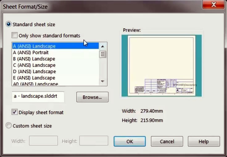 3d Metal Printing >> Creating Custom Drawing Template and Sheet Formats in SOLIDWORKS