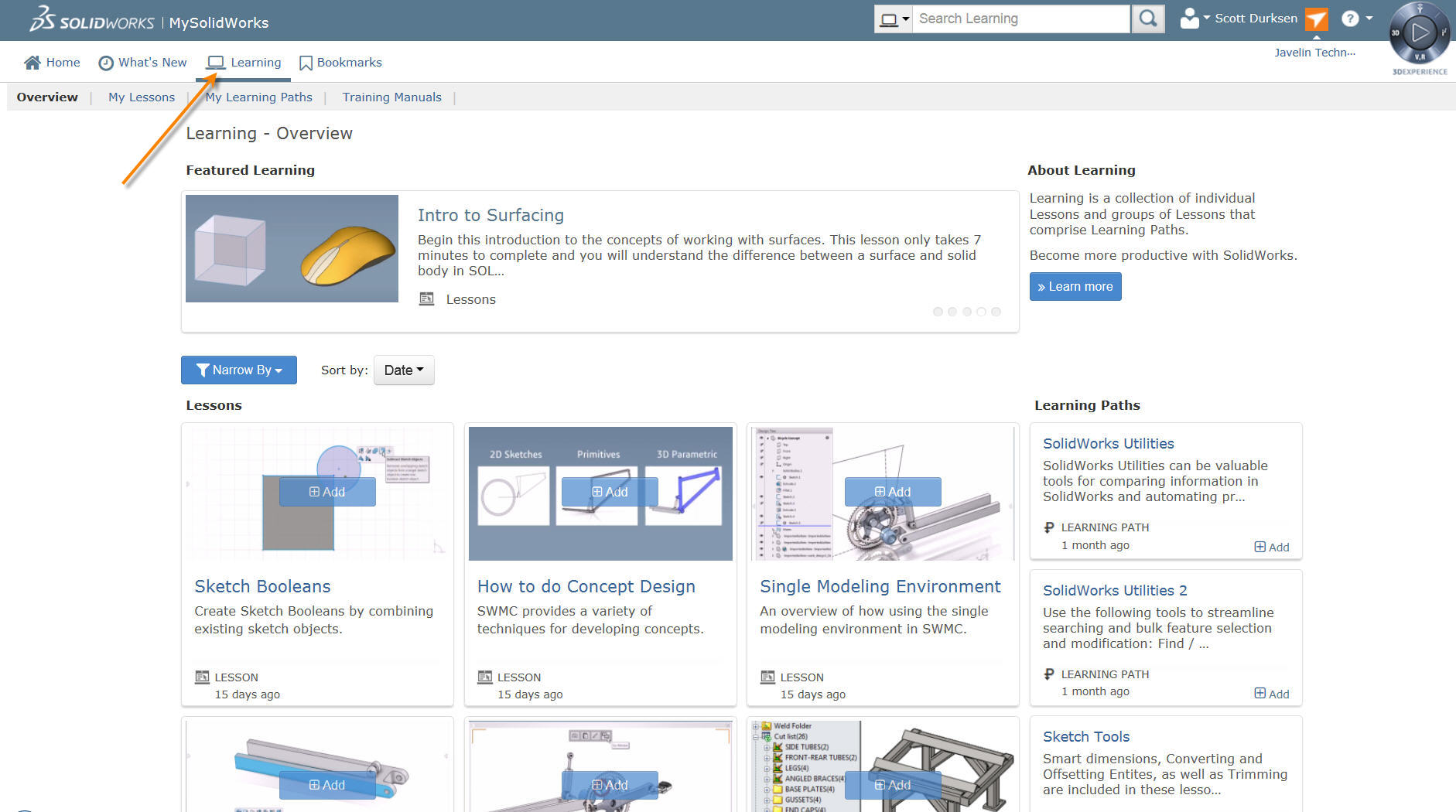 MySolidWorks Learning