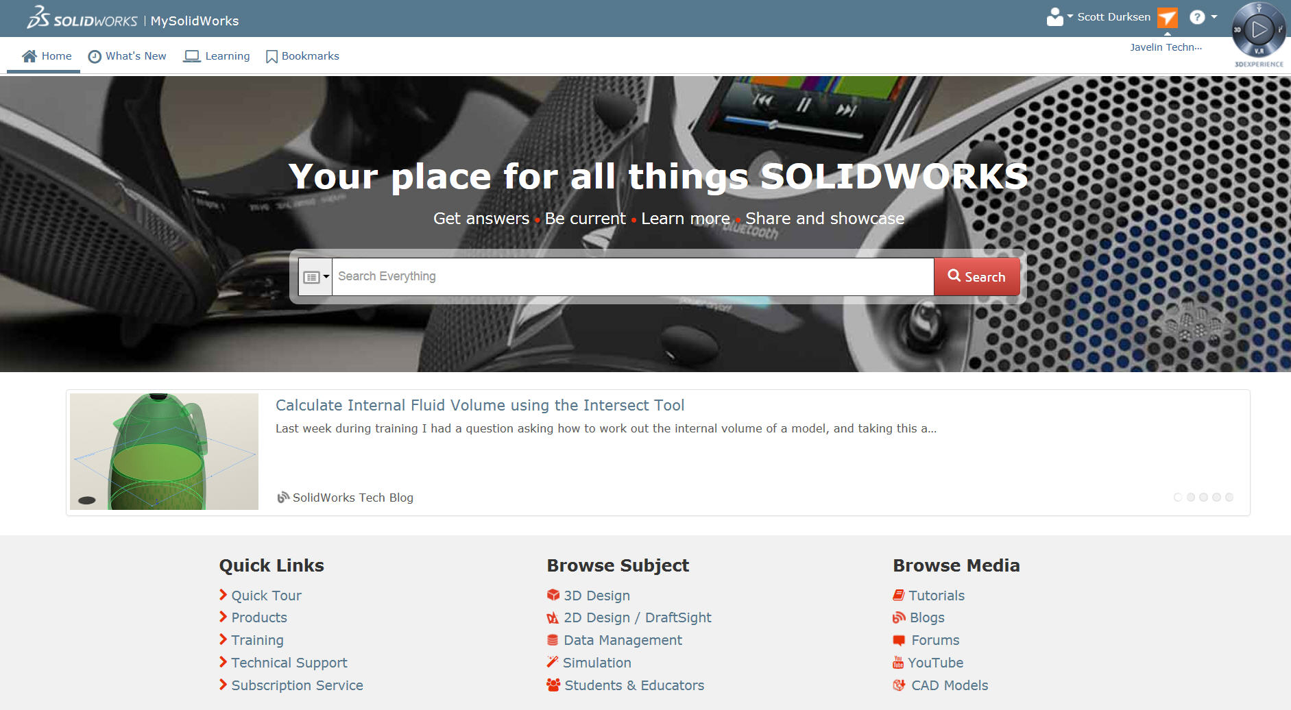 MySolidWorks Home Page